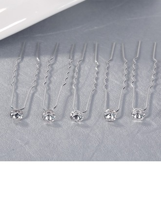 Gorgeous Crystal/Alloy Hairpins (Set of 6)