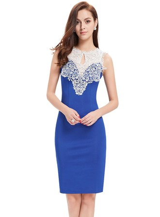 Healthy Fabric/Transplant Tissue/Decorative collar With Lace/Spliced Knee Length Dress