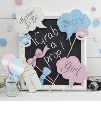 Photo Booth Props Card Paper  BABY SHOWER Photo Booth Props Wedding Decorations